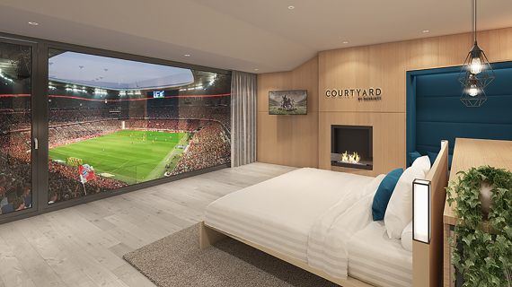Loge Courtyard by Marriott Allianz Arena Müncehn | © Marriott